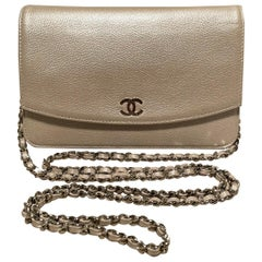 Chanel Pearl Caviar Leather WOC Wallet on a Chain