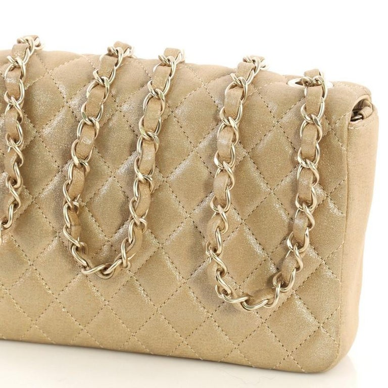 0d8708d83def12 Chanel Pearl CC Crystal Flap Bag Quilted Iridescent Fabric Sma For Sale 2
