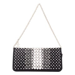 Chanel Pearl Chain Wallet Embellished Satin Long
