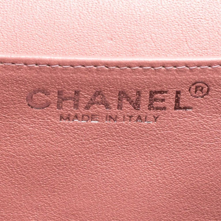 Chanel Pearl Quilted Leather Extra Mini Classic Flap Bag 6