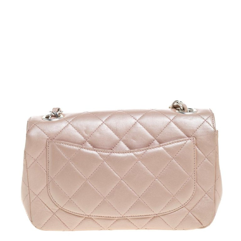 Women's Chanel Pearl Quilted Leather Extra Mini Classic Flap Bag