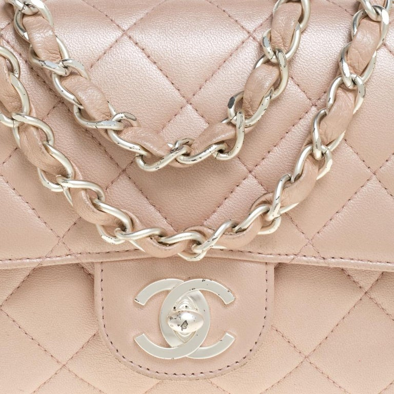 Chanel Pearl Quilted Leather Extra Mini Classic Flap Bag 1
