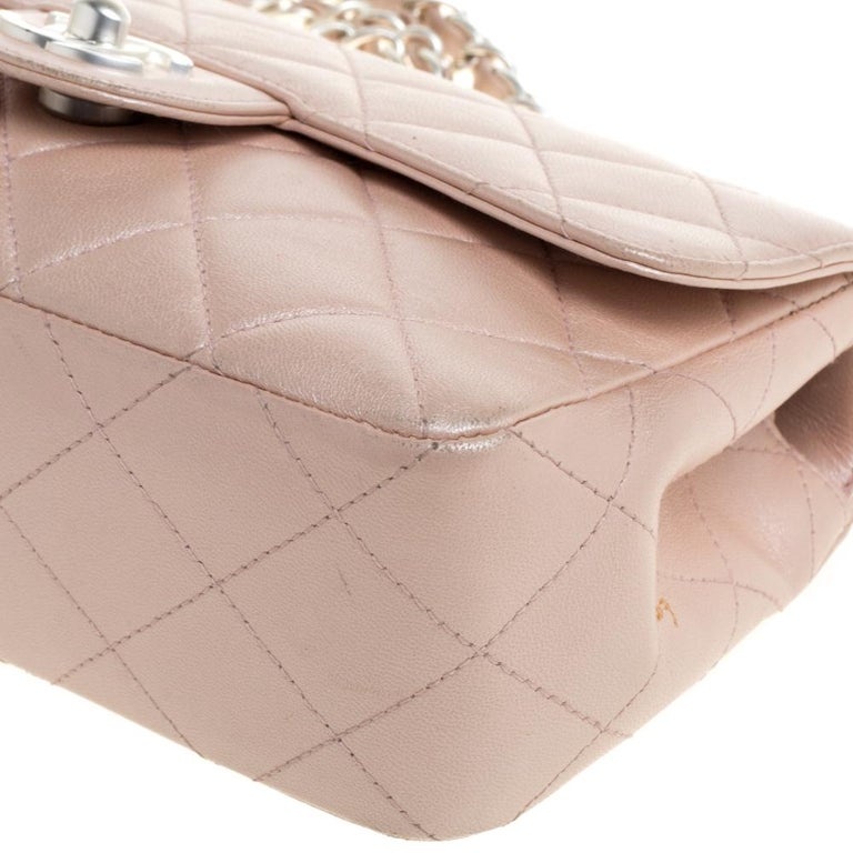 Chanel Pearl Quilted Leather Extra Mini Classic Flap Bag 2