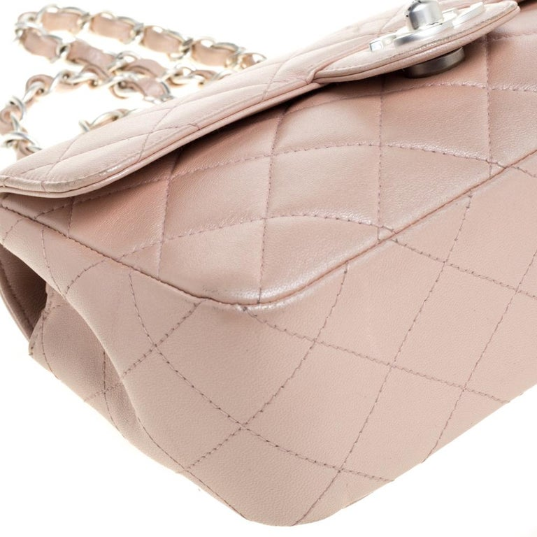Chanel Pearl Quilted Leather Extra Mini Classic Flap Bag 3