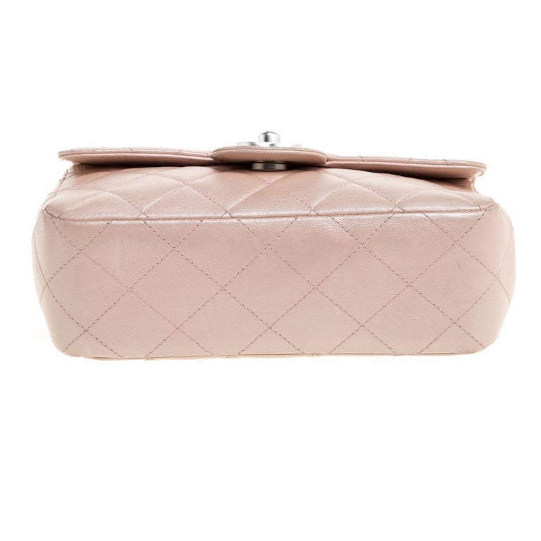Chanel Pearl Quilted Leather Extra Mini Classic Flap Bag 4