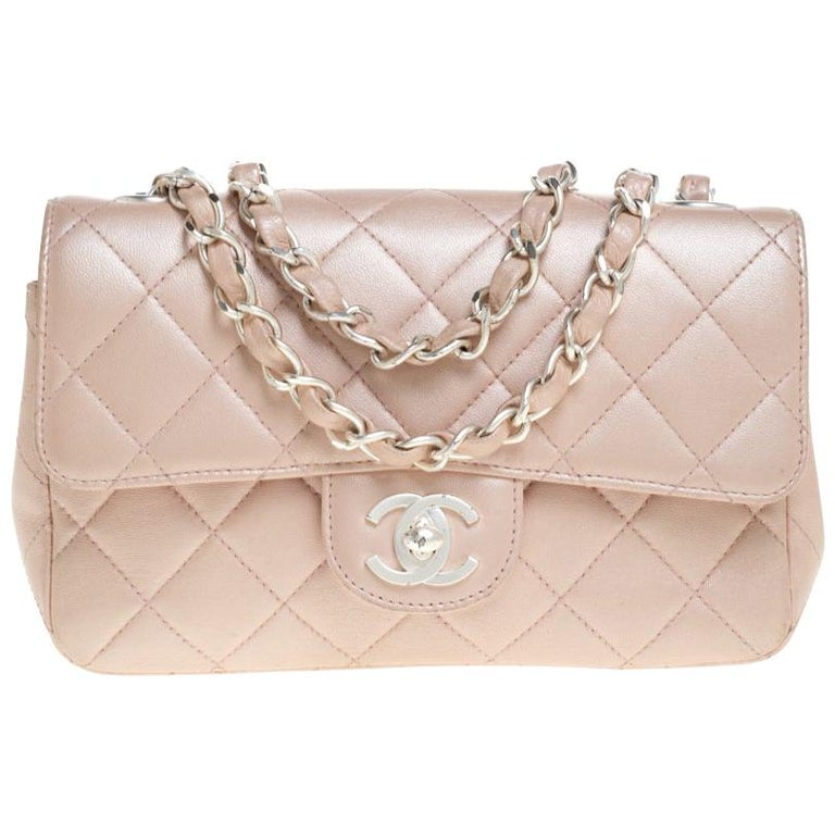 Chanel Pearl Quilted Leather Extra Mini Classic Flap Bag