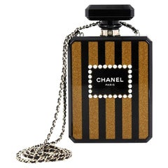 Chanel Perfume Bottle Minaudiere Pearl Embellished Plexiglass