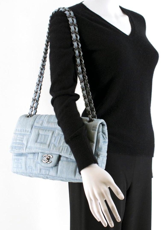 Chanel Perfume Embroidered Denim Flap Bag 1