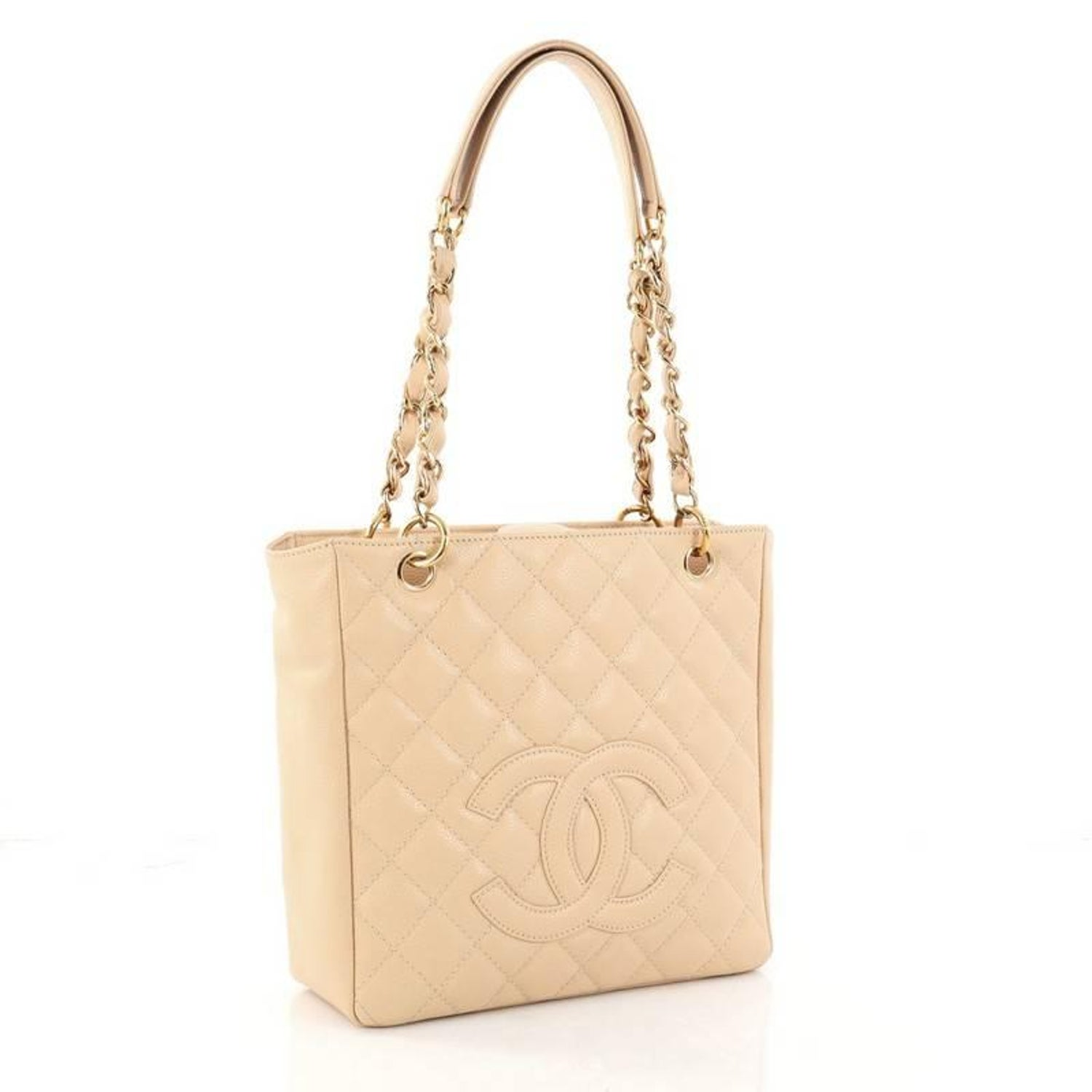 2253ee74877 Chanel Petite Shopping Tote Quilted Caviar at 1stdibs
