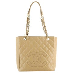Chanel Petite Shopping Tote Quilted Caviar