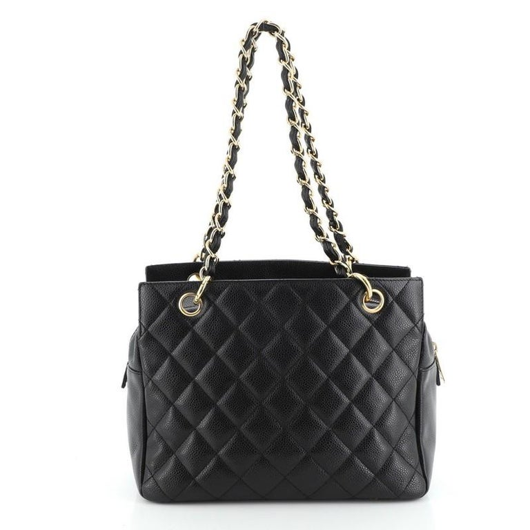 Chanel Petite Timeless Tote Quilted Caviar In Good Condition For Sale In New York, NY