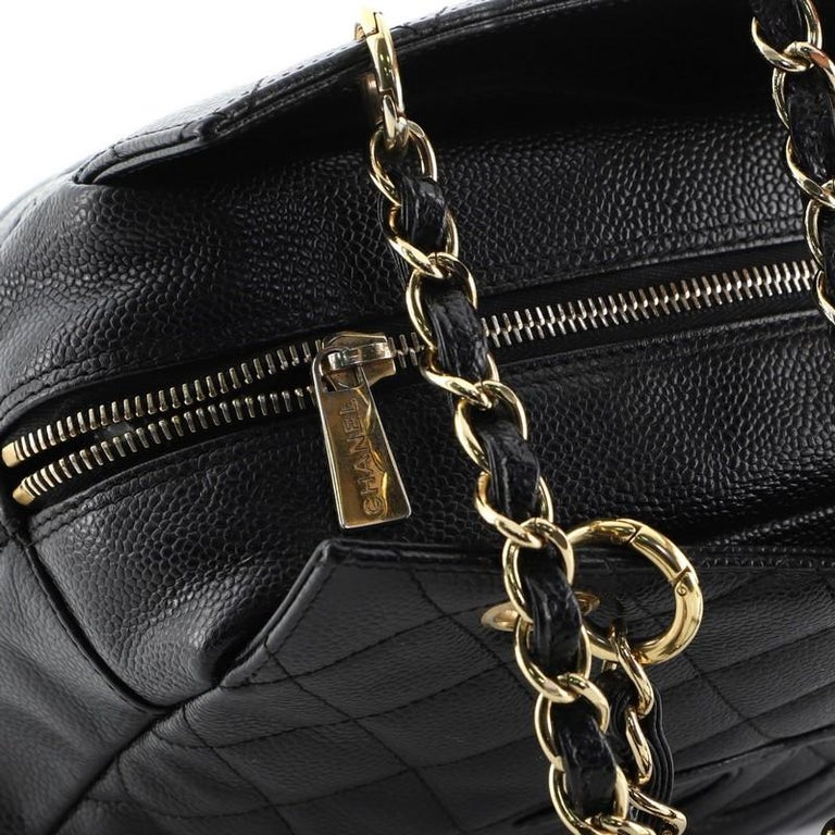 Chanel Petite Timeless Tote Quilted Caviar For Sale 3