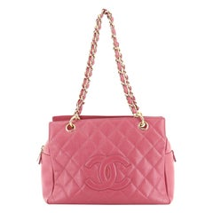 Chanel Petite Timeless Tote Quilted Caviar