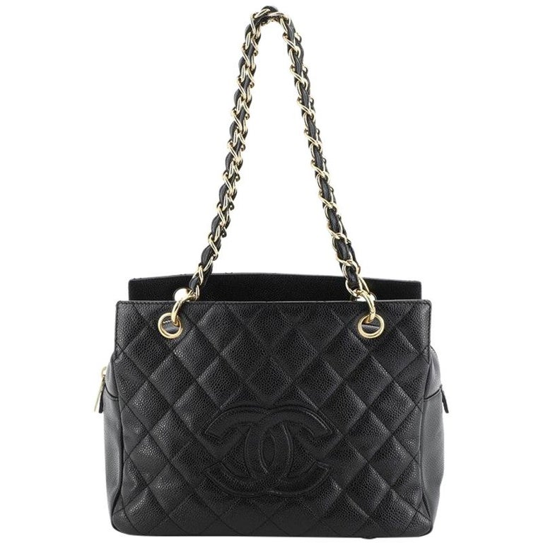 Chanel Petite Timeless Tote Quilted Caviar For Sale