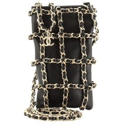 Chanel Phone Case Clutch with Chain Lambskin with Chain Detail