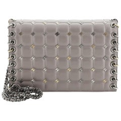 Chanel Piercing Chain Flap Bag CC Studded Quilted Lambskin Small