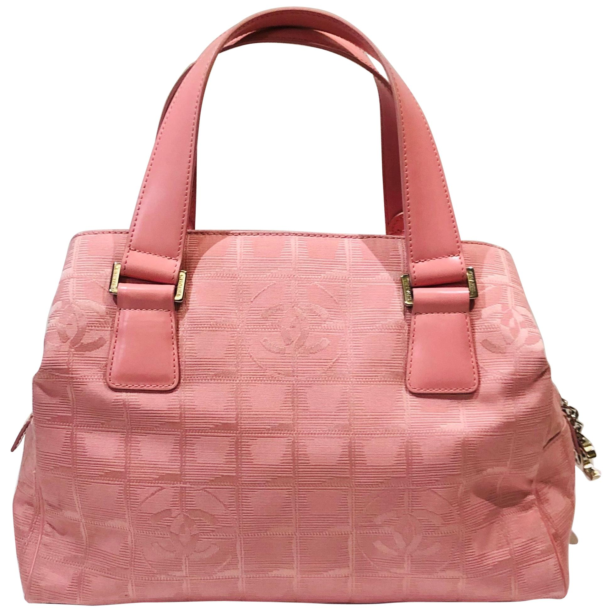 Chanel Pink Boston Style Handbag.