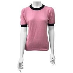 Chanel Pink Cashmere Top w/ Black Trim-44