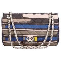 Chanel Pink Cotton Fabric CC Heart Printed Medium Flap Bag France