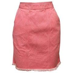 Chanel Pink Denim Mini Skirt