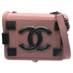 Chanel Pink Le Boy Crossbody with Silver Hardware