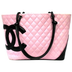 Chanel Pink Leather Cambon Bag