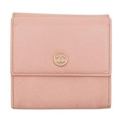 Chanel Pink Leather Sevruga Wallet