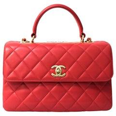 Chanel Pink Leather Trendy CC Shoulder Bag