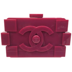 Chanel Pink LEGO Plexiglass Clutch/Crossbody