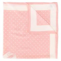 Chanel Pink Polka-dot Ribbon Scarf