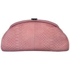 Chanel Pink Python Timeless Clutch
