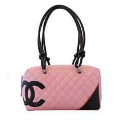 Chanel Pink Quilted Cambon Bag