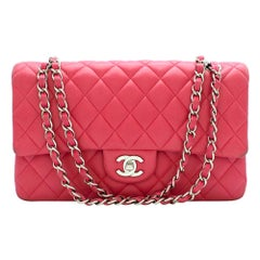 Chanel Pink Quilted Leather Small Double Flap Bag