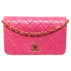 Chanel Pink Quilted Leather Wallet On Chain WOC Bag