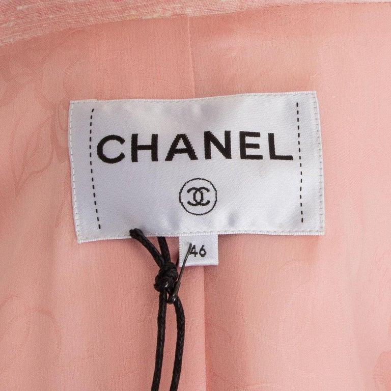 CHANEL pink silk 2017 PARIS CUBA Blazer Jacket 46 XXL 17C  For Sale 3