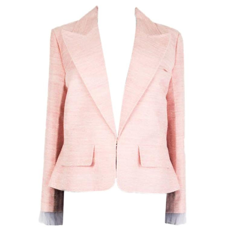 CHANEL pink silk 2017 PARIS CUBA Blazer Jacket 46 XXL 17C