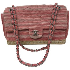 Chanel Pink Tweed Flap Bag