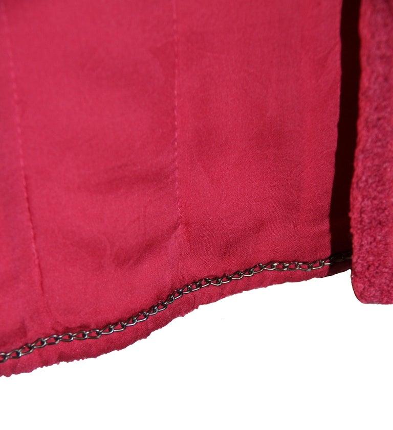 Women's Chanel Pink Tweed Jacket For Sale