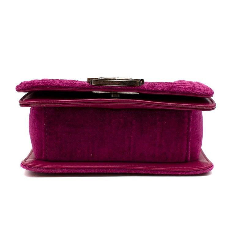 Chanel  Pink Velvet Quilted Mini 'Boy' Bag 1