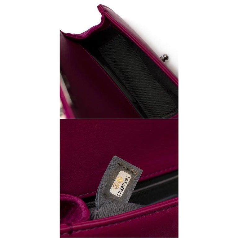 Chanel  Pink Velvet Quilted Mini 'Boy' Bag 4