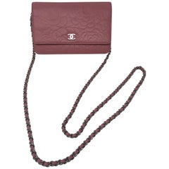 Chanel Pink Wallet On A Chain Crossbody