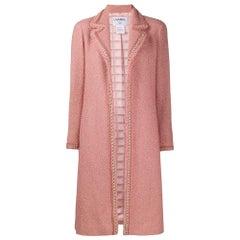 Chanel Pink Wool Bouclé Coat