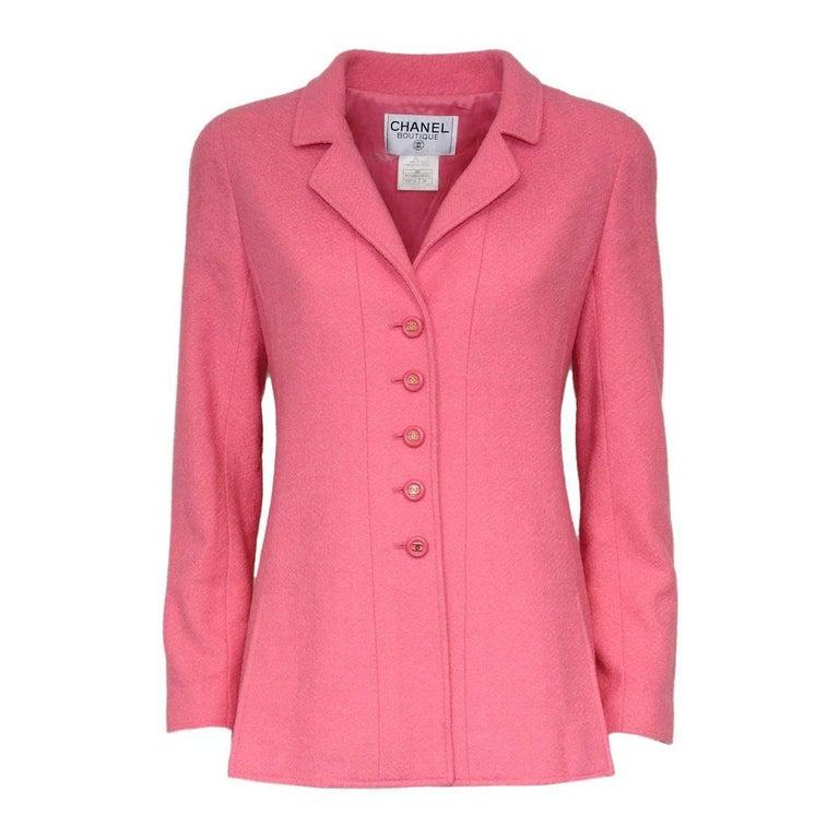 Chanel Pink Wool Jacket