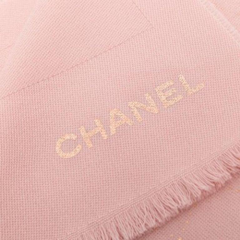 Women's or Men's Chanel Pink Wool Scarf