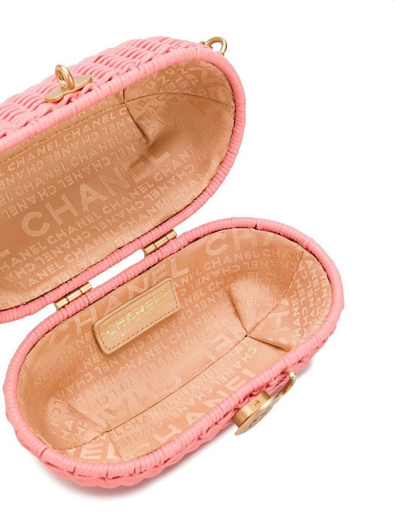 Women's Chanel Pink Woven Padlock Bag