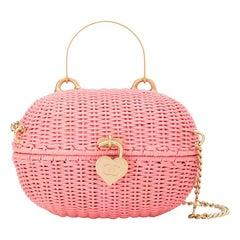 Chanel Pink Woven Padlock Bag