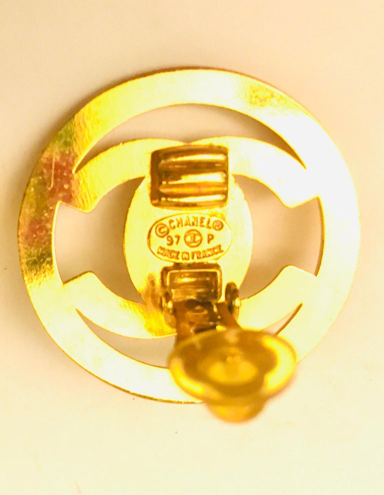 Chanel plated gold turn lock
