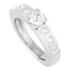 Chanel Platinum 0.75 Ct Diamond Ring
