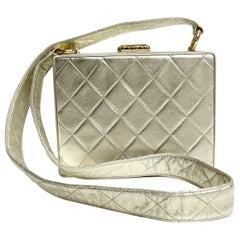 Chanel Platinum Leather Box Bag