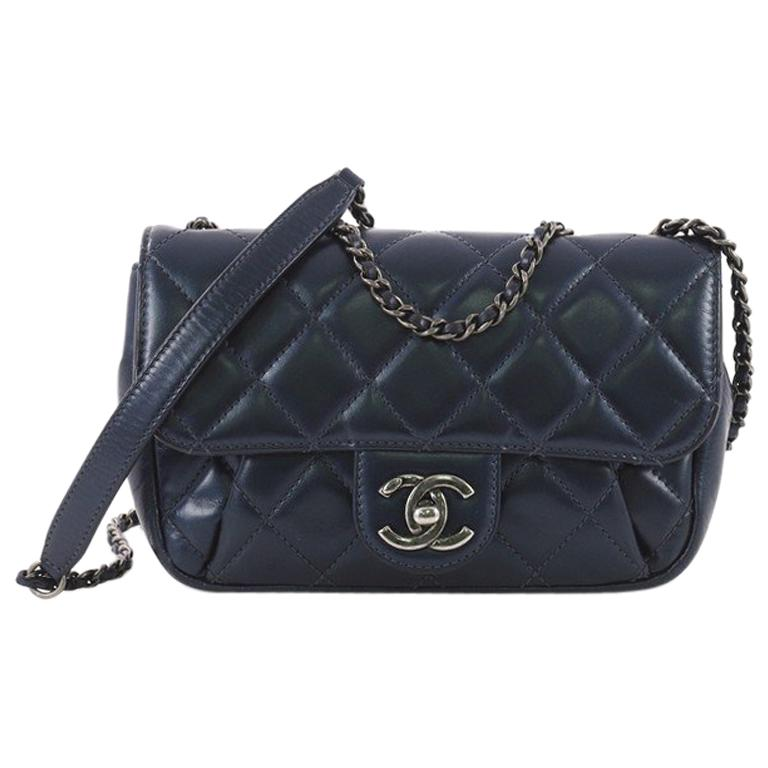 7dcb2dd8768705 Chanel Pleated Chain Flap Bag Quilted Calfskin Small at 1stdibs